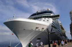 Bow of Celebrity Equinox While Docked in St Kitts
