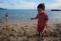 Darwin stands at the beach behind Carambola Restaurant in St Kitts.jpg