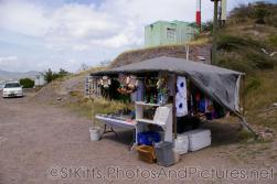 Souvenirs for sale at hill top in St Kitts.jpg