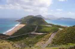 Beautiful view of 2 oceans separated by hills in St Kitts.jpg