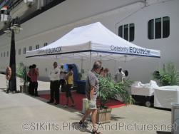 Celebrity Equinox guest comfort tent at St Kitts.jpg