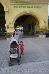 Darwin and Mommy at Port Zante in St Kitts.jpg