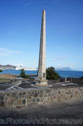 War memorial monument in St Kitts with cruise ship in background.jpg